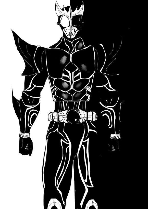 假面骑士黑白画【属渣作】图片