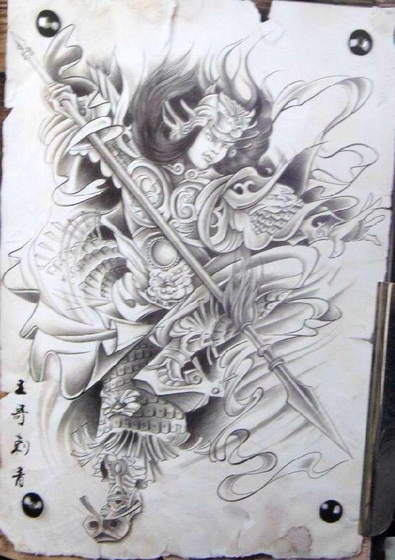 三国人物纹身手稿 1 7