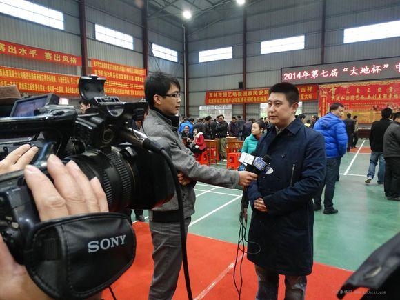 象棋特级大师张强接受采访图片