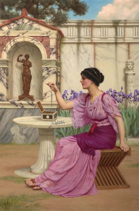 油画大师笔下的希腊美女