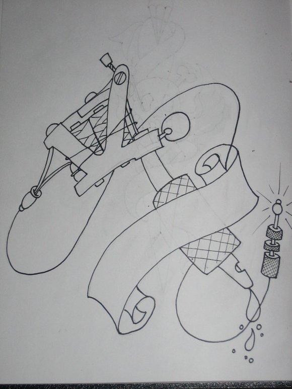 纹身机手稿_纹身吧_百度贴吧图片