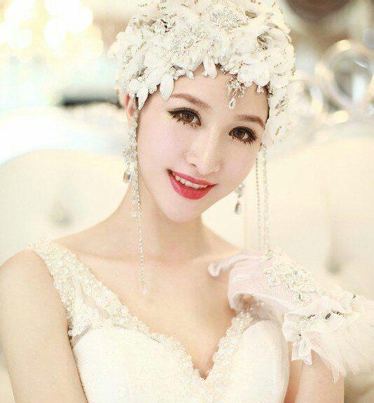 苏州你好色彩化妆摄影美甲学校教你短发新娘造型图片