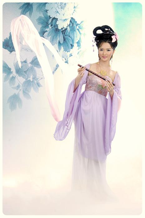北京古装摄影~~~~华裳(古苑) 摄影 ~~~~紫色七仙女!