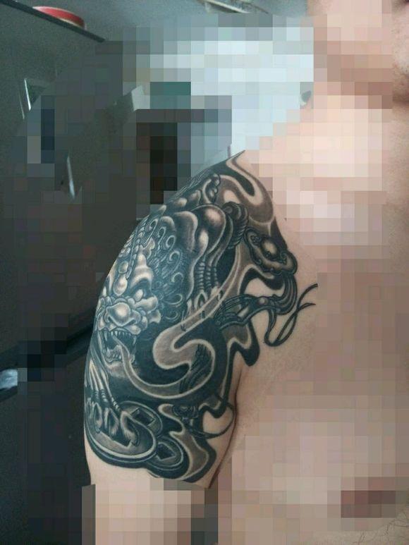 如意招财貔貅 纹身吧 百度贴吧 高清图片
