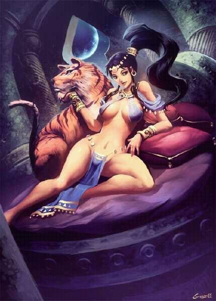迪士尼动画美女:茉莉公主