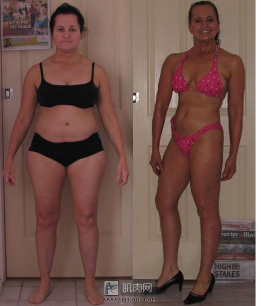 女人减肥增肌前后对比!