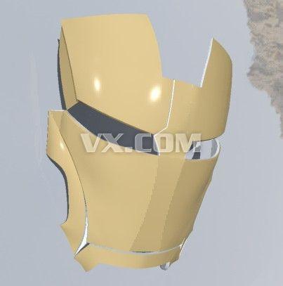 3d打印机的话!卤煮一定要去打印个钢铁侠的头盔!!!!图纸收藏:高清图片