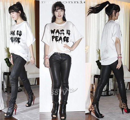 【皮裤】一大波韩国皮裤美女袭来