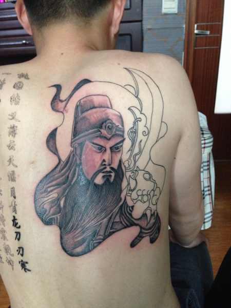 关公纹身图片