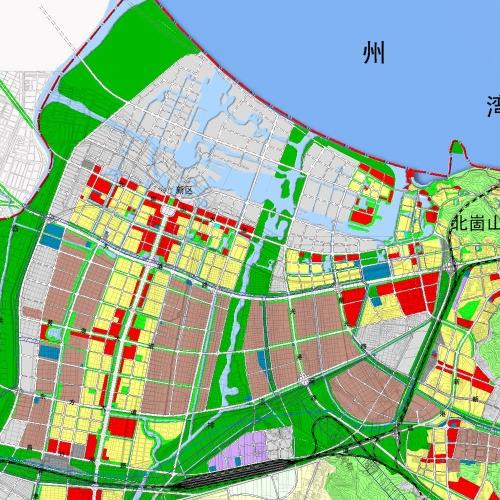 连云新城土地利用规划图.这个又太保守了,10年后的连云港什高清图片