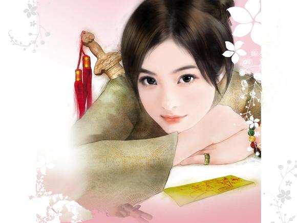 古典美女手绘图