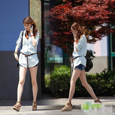 浙江传媒学院 街拍 果然传媒出美女啊!夏天真好