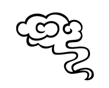花兮╮云水纹素材图片