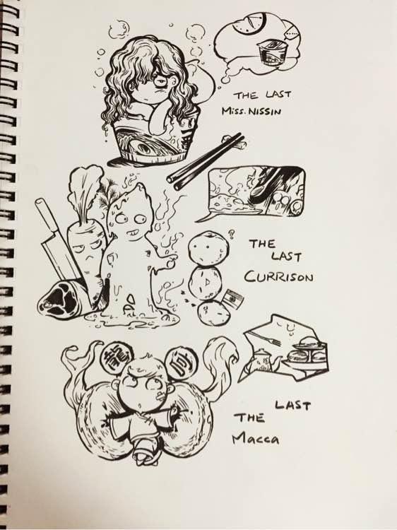 泡面 咖喱饭 马卡龙图片