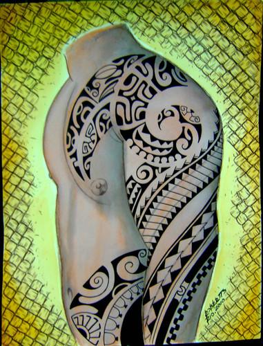 玛雅之魂 .巴西原始纹身图腾作品图片