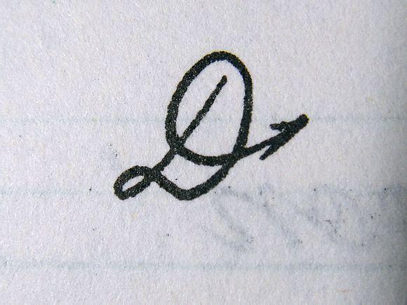 D的写法[箭头为书写方向-传说中的英文花体字娇嗔 v 镇远一中吧