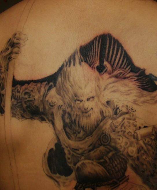 《《《《大型纹身 斗战神图片