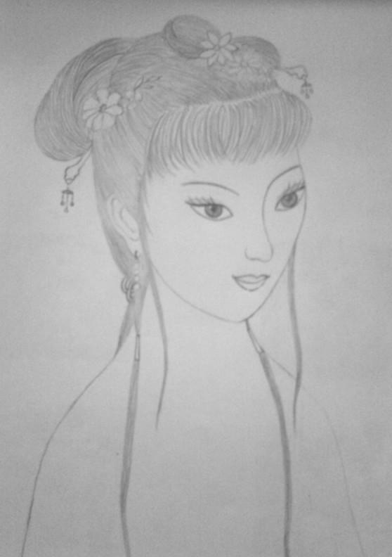 古装贴图 *【铅笔画】彩铅古装美女