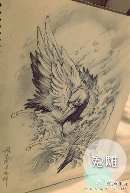 【重庆·鬼雕】满背 不动明王手稿.图片