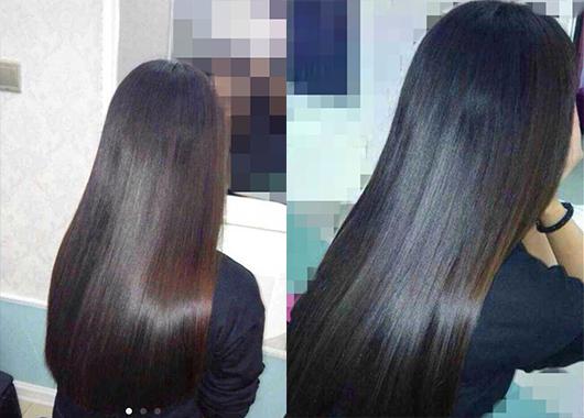 3个月【沙性发质干蓬枯黄到黑直长少女】楼主直播鲍照 头发黑又亮图片
