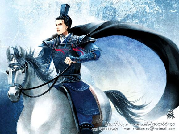 【手绘古装】【求图】求古装男子骑马射箭图!图片
