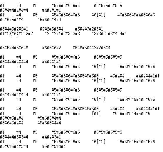球那朵花ed的16孔半音阶口琴谱图片
