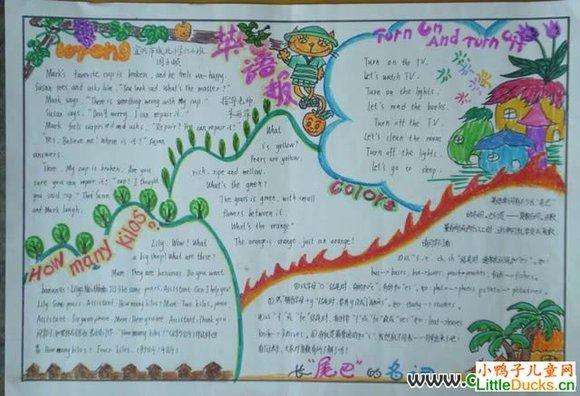 转贴:优秀初中英语手抄报设计图:我爱英语学习-英语