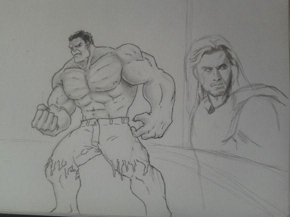 绿巨人卡通简笔画