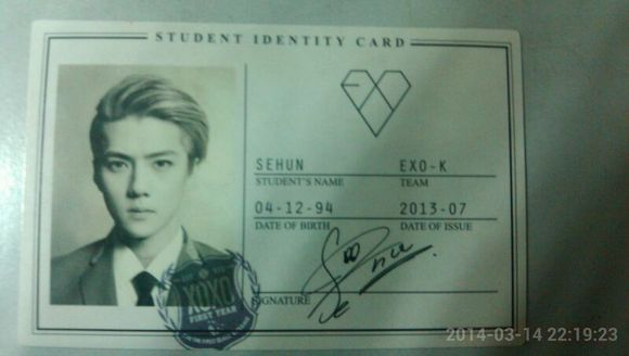 exo周边【出】世勋狼与美女学生证卡