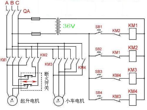 求电动葫芦接线图图片