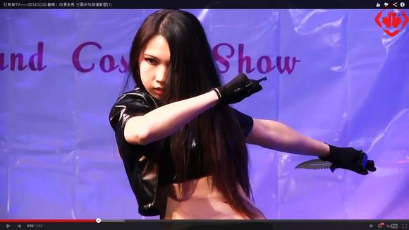 舞台秀cosplay女打手
