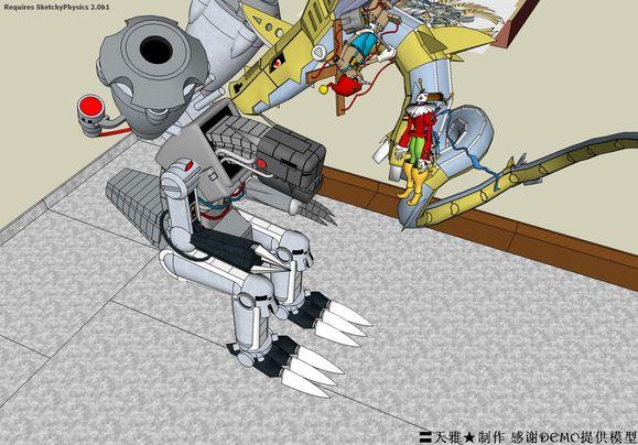 钢铁海龙兽、机械邪龙兽、木偶兽、小丑皇.高清图片