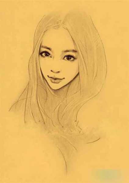 铅笔画素描20种女生 你喜欢哪个?