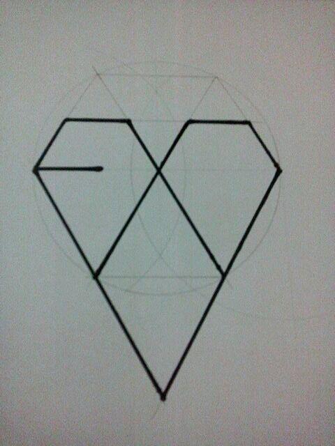 EXOωWRO Logo手绘教程图片