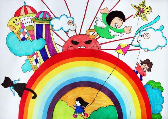 多彩童年:少儿绘画优秀作品展览图片
