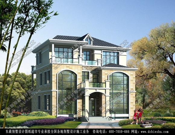 现代中式新农村房屋效果图_装修设计吧_百度贴吧高清图片
