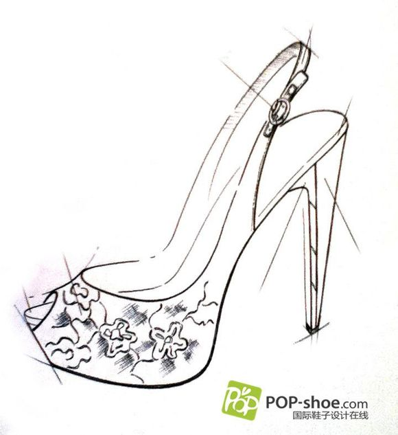 2014手绘鞋子设计图图片