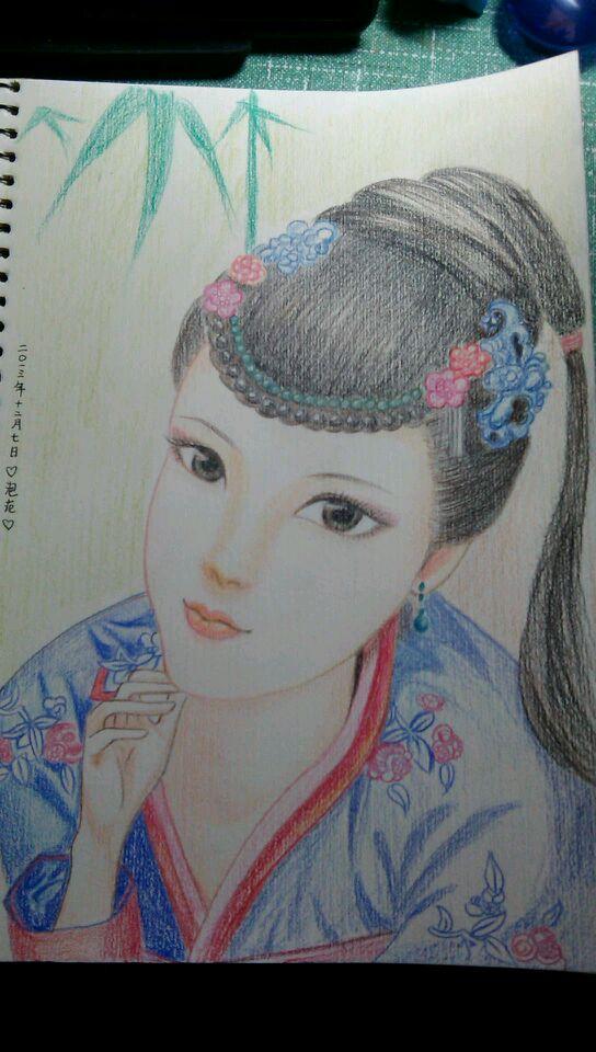 【纯手绘】古风美女 古装手绘美女图片吧