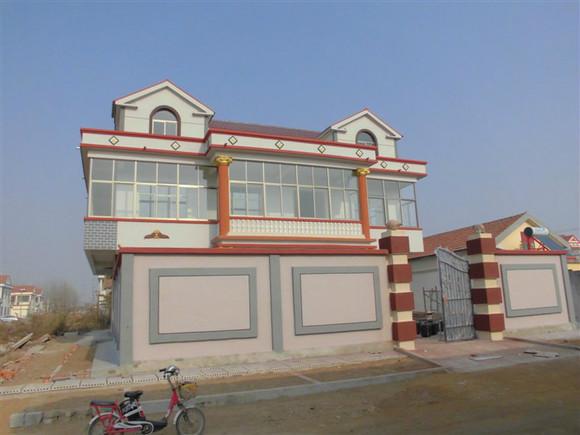农村房屋外墙真石漆 喷砂 效果图 赣榆城头吧 百度贴吧 高清图片