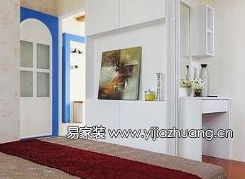 效果,让整个空间沐浴在地中海的蓝白色浪漫风情中木条栅格吊高清图片