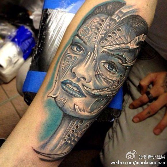 人物肖像纹身图片欣赏图片