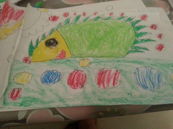 小孩子的画,瞬间觉得可爱!图片