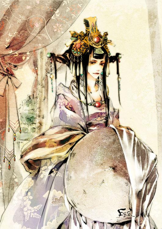 清朝皇后手绘图片_【青梅煮酒】【寻图】求皇后