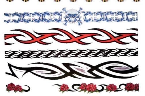 ‖鲅鱼圈都市纹身‖臂环五十腰花一百图案任选下边图片