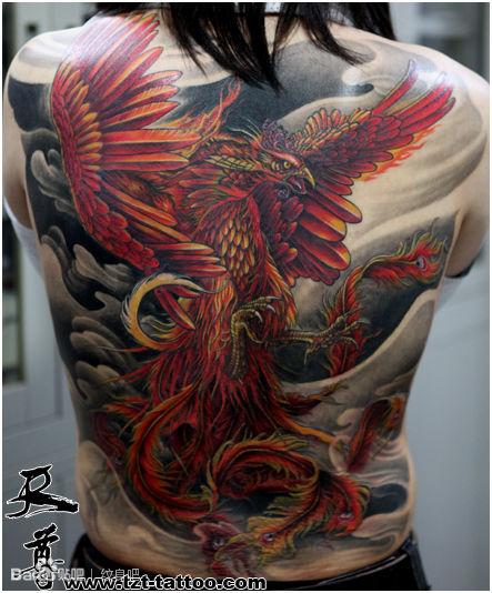 我想纹身 求朱雀图案图片