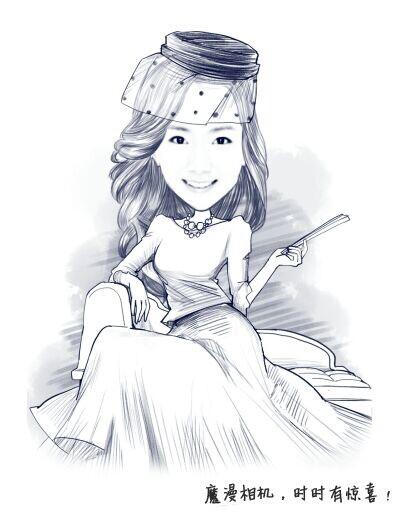 优雅女人简笔画(3)
