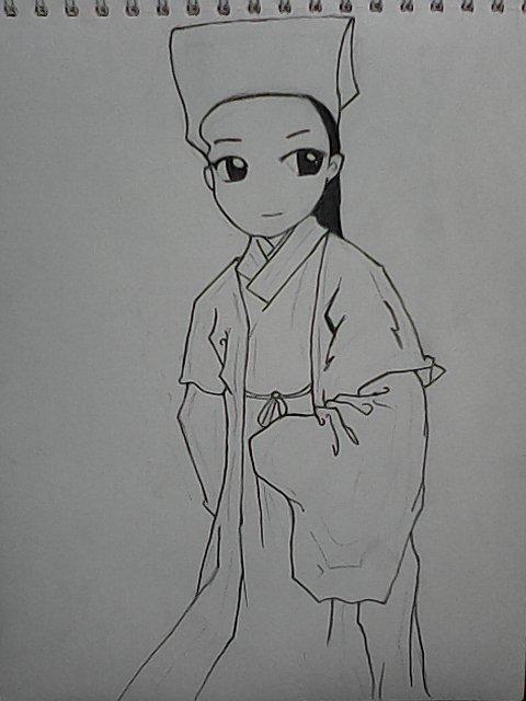 q版古装人物简笔画图片