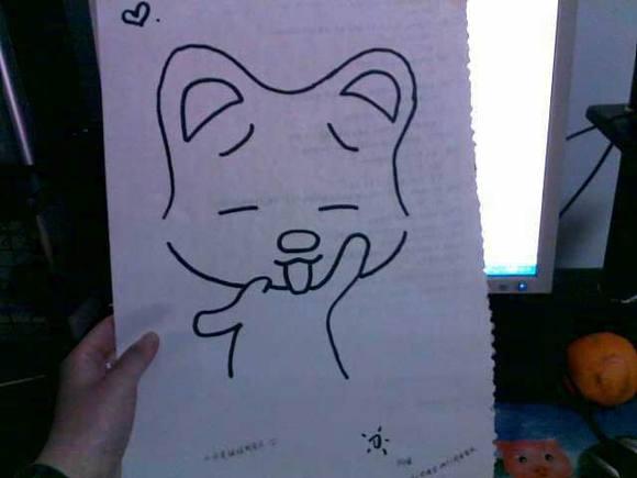 我妹妹给我画了一幅画图片