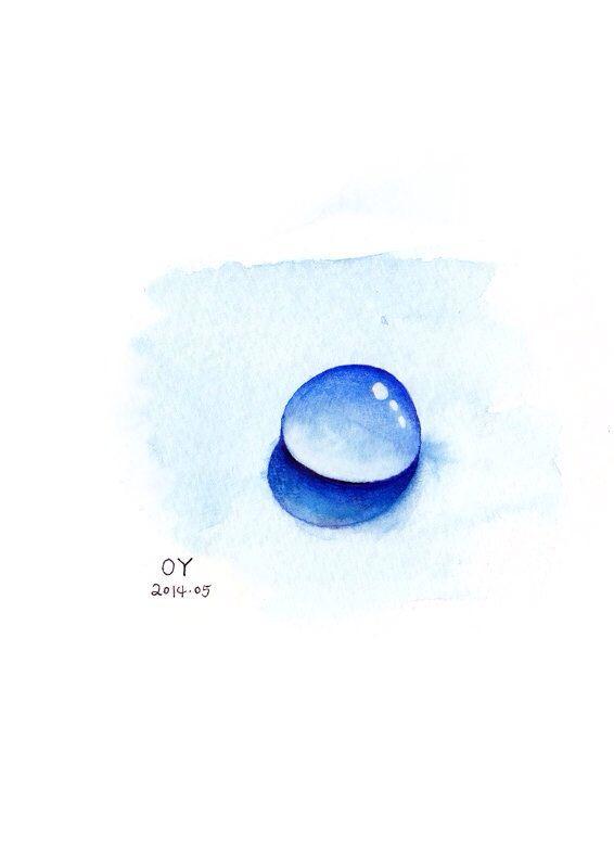 OY手绘 水滴练习