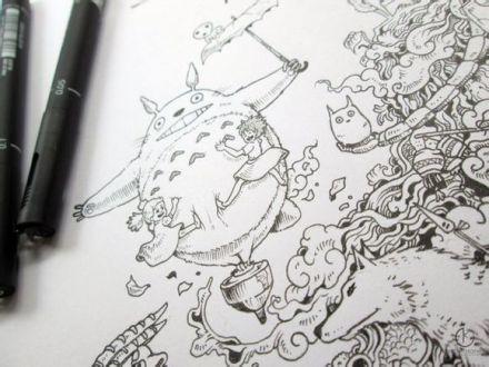 宫崎骏动画——手绘图片